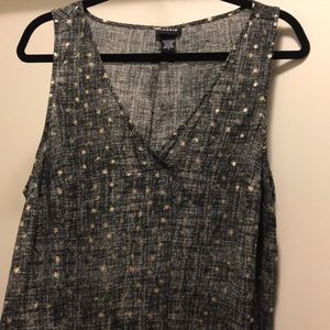 Torrid size 1 sleeveless top with gold foil stars